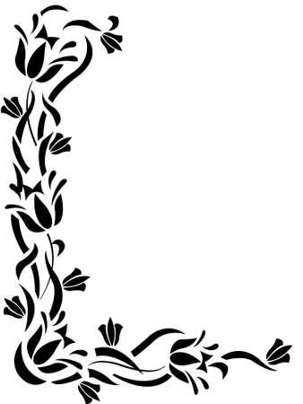 vine border: floral decorative ornament frame