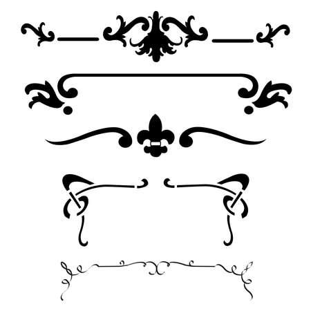 decorative elements: decorative design elements Illustration