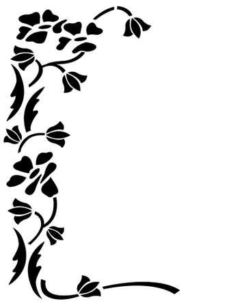 ornamentations: ornamento decorative Floral frame