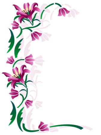 floral decorative ornament frame Stock Vector - 8059352