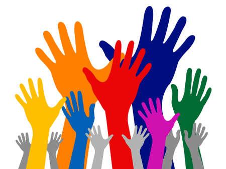 Kleurrijke hand