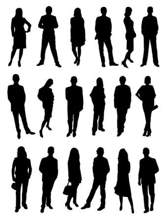 Silhouettes of business people Illustration