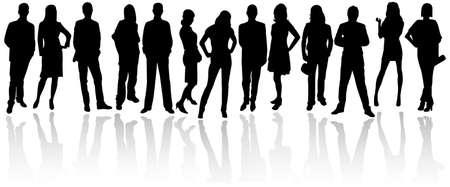 silueta humana: Siluetas de personas de negocios