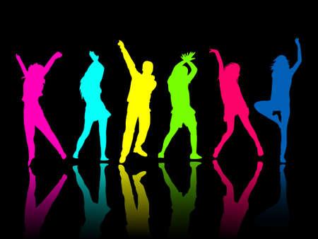 chicas bailando: personas de silueta parte danza