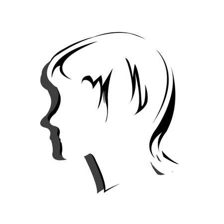 Silhouette hair style , face Vector