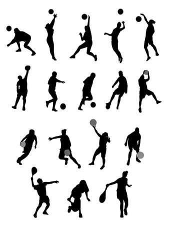 perspiration: silhouette sport Illustration