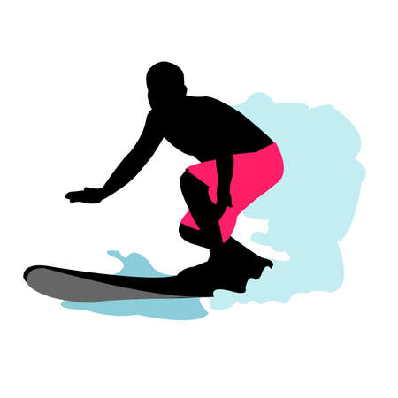 surfer: Surfer Silhouette Illustration