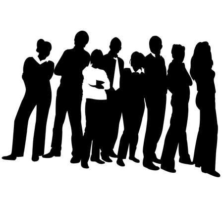 team worker: business team Illustration