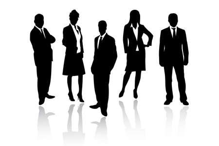 young people group: uomini d'affari