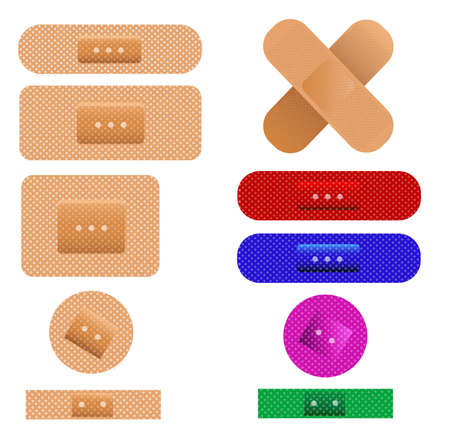 plaster, bandages Vector