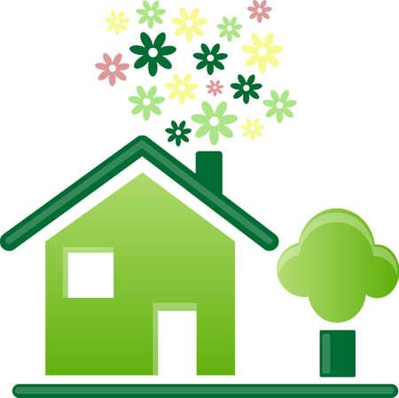 icone maison: ic�ne Accueil Illustration