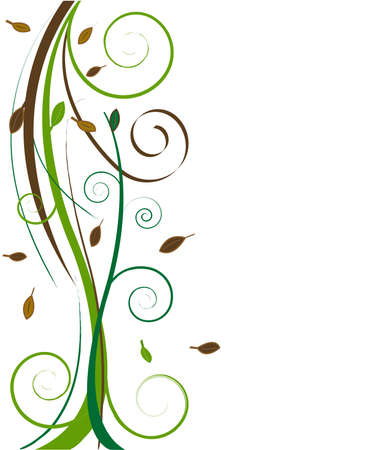 green swirl: floral