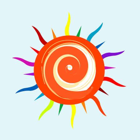 cartoon sun: Sol de dibujos animados coloridos