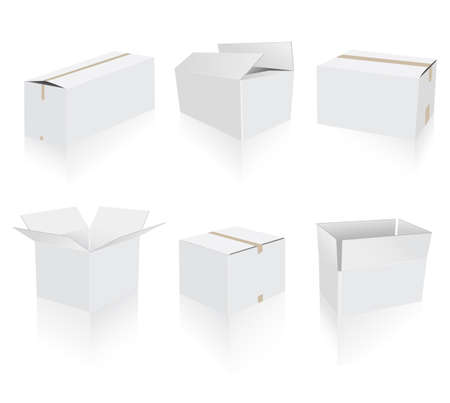 work crate: white boxes Illustration