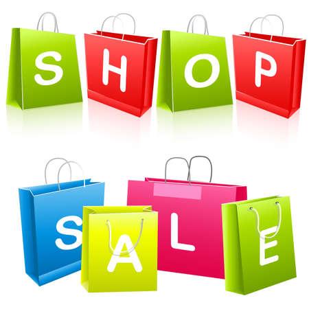 Sale shopping bags Stock Vector - 6708346