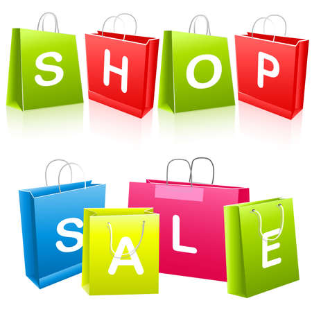 Sale shopping bags Stock Vector - 6708346