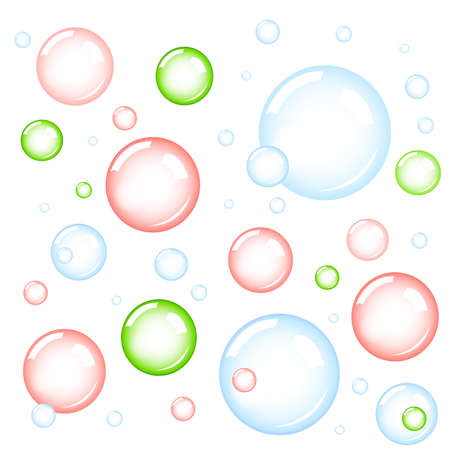 fizzy water: bubbles Illustration