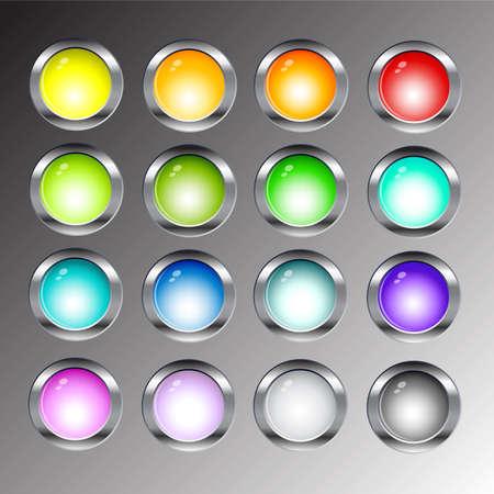 rotund: glossy button set