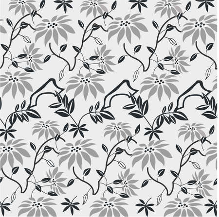 Seamless with flowers pattern, wallpaper Vector