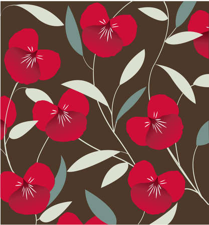 decorative floral pattern, background Vector