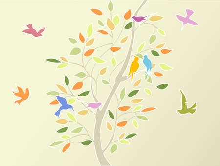 time flies: floral tree