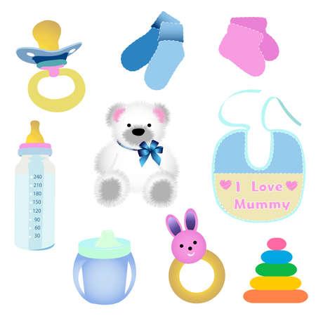baby elements Stock Vector - 8045436