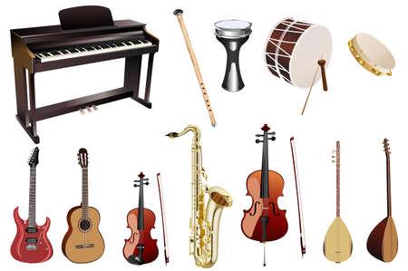 musical instruments: M�sica instuments  Vectores