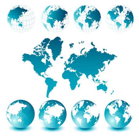 globe earth: World map and globes