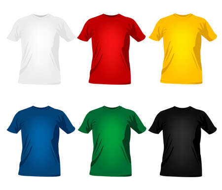 primary colours: T-shirt templates