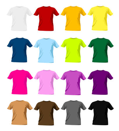 casual wear: t-shirt templates
