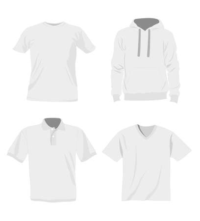 sport wear: man t-shirt templates Illustration