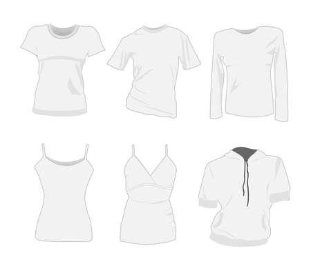 women t-shirt templates Stock Vector - 8049926