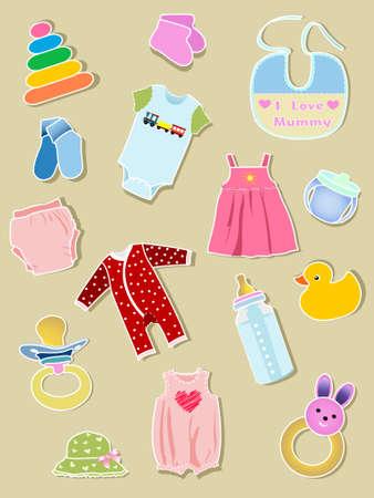 Baby elements Stock Vector - 8049927
