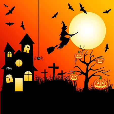 besom: Halloween Illustration