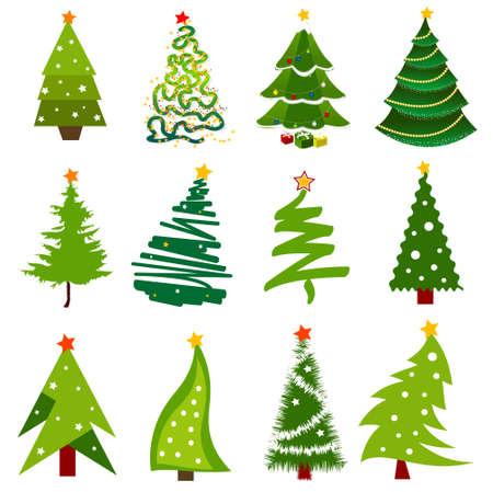 winter garden: Christmas trees