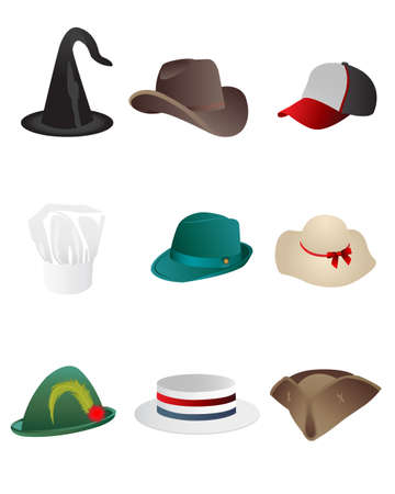 fedora: hats Illustration