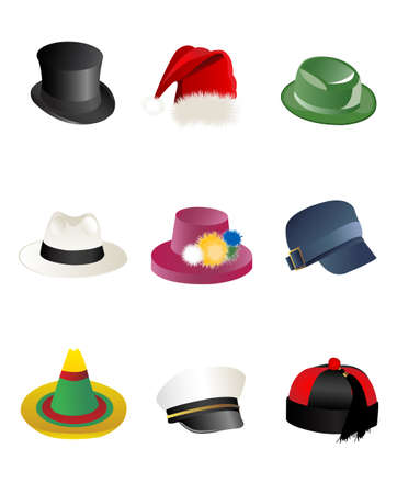bowler hat: hats Illustration