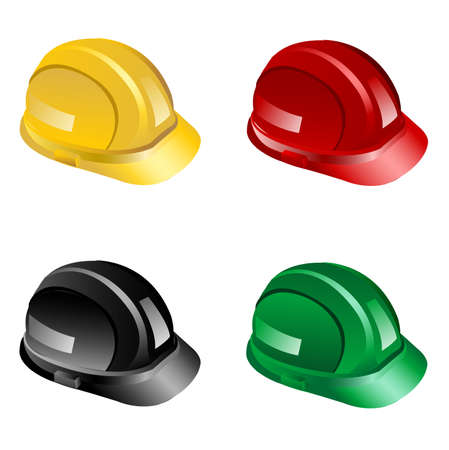 hard hats Stock Vector - 8076187