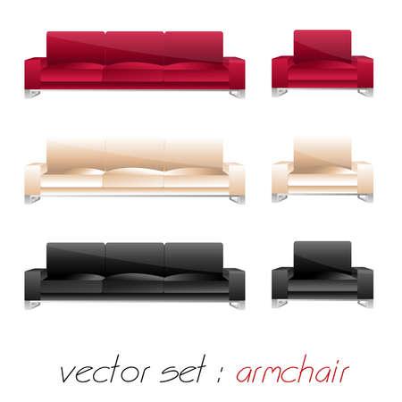 sofa set: armchair, sofa set