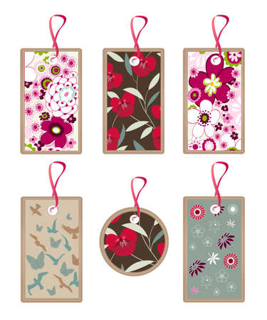floral, nature tags, pattern, texture Vector