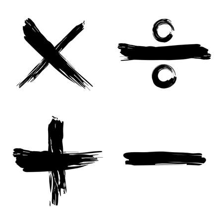 Tick, Cruz, icono de la web positivo y negativo  Ilustración de vector