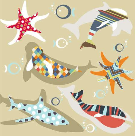 abstract natural animal pattern Vector