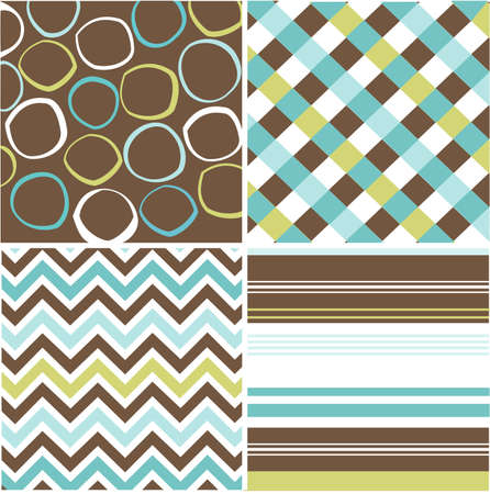 seamless patterns with fabric texture Stock Vector - 8149631