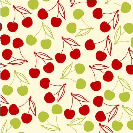 petiole: cherries background