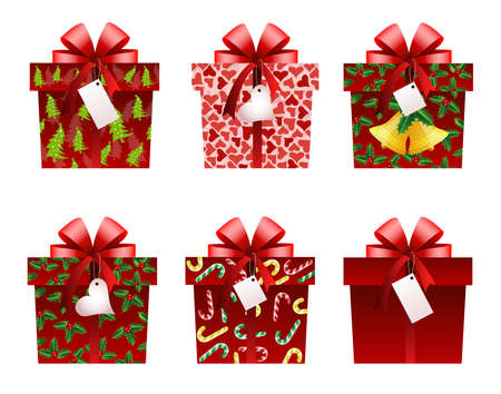 Christmas gift icons Stock Vector - 8149650