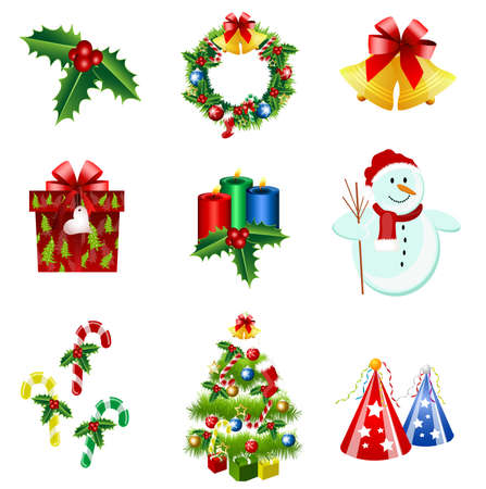 snow fall: christmas icons