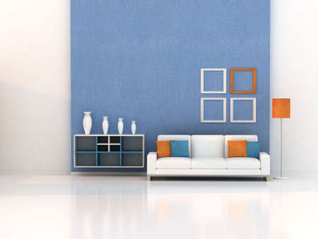 room wallpaper: living room, modern room Stock Photo