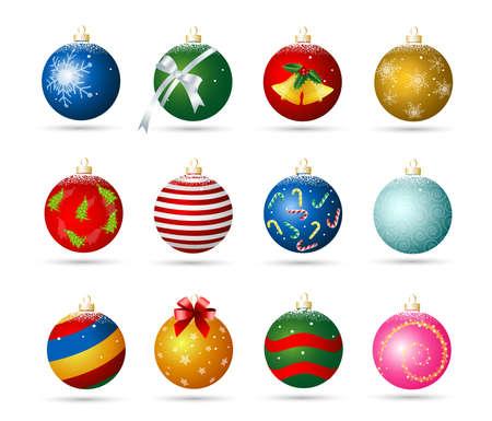 christmas ornaments: Christmas ornaments Illustration