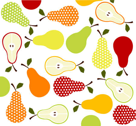 fruit illustration: fruits, pears background Illustration