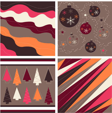 seamless patterns with fabric texture, christmas texture Vector
